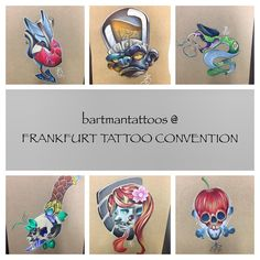 Few of amazing tattoo designs by one and only Bartman. Pin Up Tattoos, Cool Tattoos, Labret, Body Art, Tattoo Designs, Amazing, Coolest Tattoo, Tatto Designs
