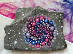 'Starlight' mandala stone by lPrimrose.deviantart.com on @DeviantArt