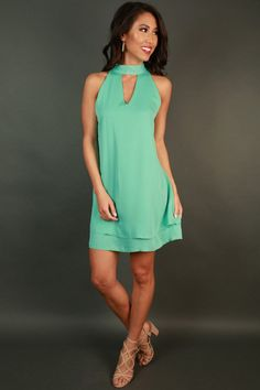 Time To Shine Shift Dress in Ocean Wave