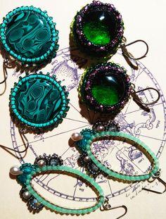 Beads with fluorite Succulent beadsHandmade beads for dreadlocks Fimo beads