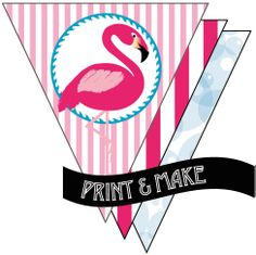 Printable Flamingo Party Bunting by Style My Party www.stylemyparty.co.uk
