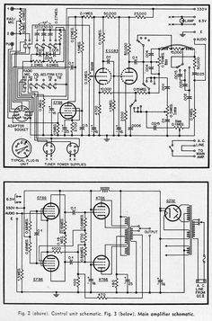 Hi Fi Amplifier Schematics c. 1954 | Preservation Sound