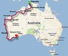 Aussie road trip adventure! We will start from Darwin with a final destination somewhere south of Perth. The Margaret River Valley is said to be gorgeous this time of year. We estimate the drive will be around 3000 miles, depending on how many times we get lost. — By the Seat of My Skirt