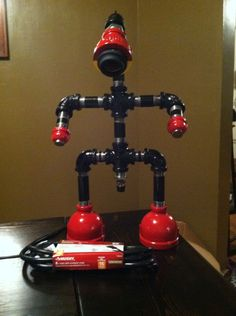 My version of the conduit robot lamp. Let the building commence. (You can do it!!!)