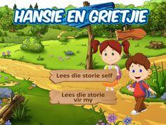 Hansie en Grietjie Kinderstorie in Afrikaans Afrikaans, Google Play, Mobile App, Ipad, Iphone, Store, Youtube, Storage, Business