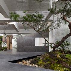 Sisii showroom by Yuko Nagayama & Associates is interspersed with rockeries