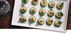 Cucumber and Hummus - A Fantastic Finger Food After School Snacks, Finger Foods, Hummus, Cucumber, Sushi, Appetizers, Tasty, Dishes, Cooking