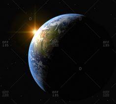 Sunrise over Earth, artwork