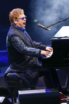 Elton John burns a fuse or two during his performance at Thurn & Taxis Castle Festival 2014 on July 22 in Regensburg, Germany