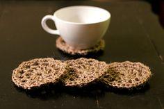 Crochet twine coasters - free pattern