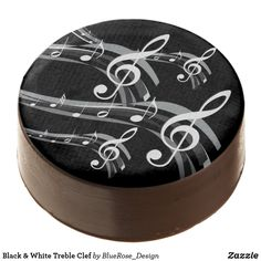 Black & White Treble Clef Chocolate Covered Oreo White Chocolate Covered Oreos, Oreo Pops, Cookie Gifts, Treble Clef, Oreo Cookies, Goodie Bags, Confectionery, Corn Syrup