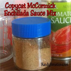 Save money and eat healthier with this copycat version of McCormick's Enchilada Sauce Mix.  Using items you probably already have in your kitchen, you can make a delicious enchilada sauce mix that saves a trip to the store.
