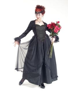 Eternal Love Plus Size Black Gothic Sacred Heart + Roses Belle Dame [5177B] - $135.99 : Mystic Crypt, the most unique, hard to find items at ghoulishly great prices!