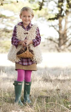 "Girl's ""Sheepskin"" vest | Your Knitting Life Magazine"