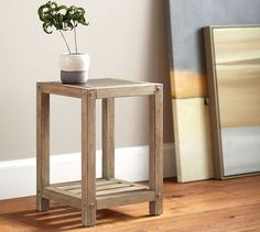 Brooklyn Side Table - slim profile makes it perfect for tucking into a corner #smallspaces #smallspaceliving #smartsolutions