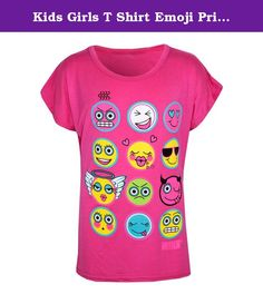 Kids Girls T Shirt Emoji Print Stylish Trendy Fashion Top New Age 7-13 Years. Shop With Confidence Simple Returns 30 Days Returns/Exchanges Accepted All Orders Dispatched Within 24 HOURS With Free Standard Dispatch HERE IS NEW GIRLS EMOJI PRINT FUNKY STYLISH FASHION CROP TOP T SHIRT. Short Sleeves. Soft & Stretchable Fabric For A Good Fit. Available Colors; Pink, Royal Blue, Neon Green, Neon Pink, Neon Yellow, White & Yellow. Avaiable Size; Age 7-8 Year, 9-10 Year, 11-12 Year & 13 years…