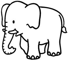 Elephant Coloring Pages For Kids - Preschool Crafts