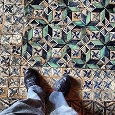standing on a 2000 year old mosaic floor in the vatican - @Desmond Teh | Webstagram
