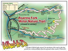 Roaring Fork Motor Nature Trail Map ~  www.vrbo.com/558850 or http://www.facebook.com/MyGrandviewCabin or MyGatlinburgCabin.com