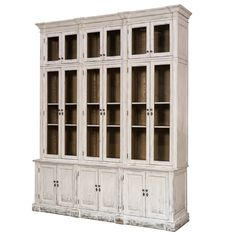 White French Country Glassfront Cabinet - Belle Escape
