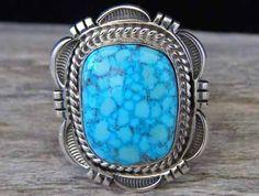 Cecil Atencio Kingman Turquoise Ring... at Chacodog.com