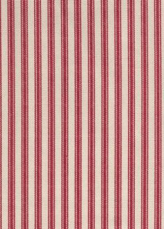 Timeless+Ticking+Crimson+ - French ticking is very popular. It pairs well with other items that have the red and cream colors, as a contrasting fabric.