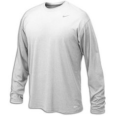 684ec4cd Nike 384408 Legend Dri-Fit Long Sleeve Tee - White - deal by mail