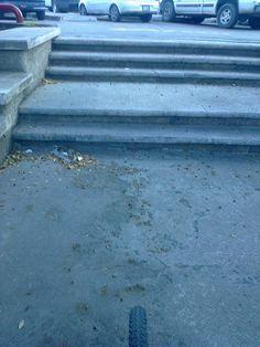 Recorrido dos, equipo cuatro. Lo malo, escaleras que interrumpen la velocidad del ciclista.