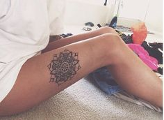 Mandala tattoo: love this.