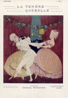 Gerda Wegener 1913 ''La Tendre Querelle'' Pierrot 18th Century Costumes