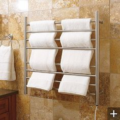 Myson Wall-mount Towel Warmer: Add a spa-like amenity to your home with the Myson Wall-mount Towel Warmer. This easy-to-use, all-electric unit features eight warming bars that quickly, safely, and evenly distribute heat to towels, robes, or blankets.