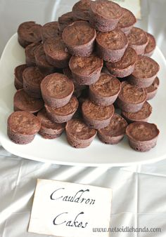 With the Cauldron Cakes, I got lazy too and just used easy peasy brownie bites {you can grab these from your local grocery store too!}