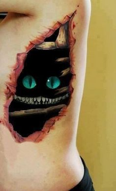 """Oh, this? Just an emerald-eyed monster hiding out beneath my flesh."" 