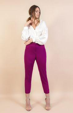 Spring emotions #spring #poema #poemaro #blouse #white #pants #purplepants #lovelyspring #flowers #emotions Purple Pants, White Pants, Poems, Capri Pants, Suits, Blouse, Spring, Flowers, Fashion