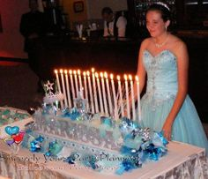 Tiffany Turquoise Sweet 16 Candle Lighting Board Dais Name
