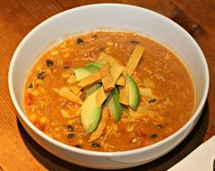 Creamy Chicken Tortilla Soup   (I wonder if this is closer to what I like from McAllister's)