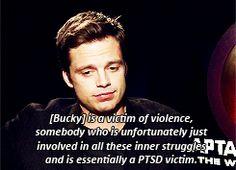No one has Bucky feels like Sebastian Stan <---- If I liked Bucky any more than I already do, I'd be Sebastian Stan.