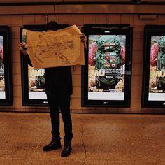 ◾️ #paris #france #subway #metrostation #map #tourist #vscocam #losts