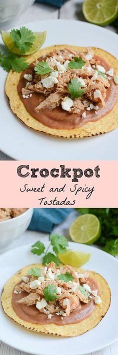 Crockpot Sweet and Spicy Tostadas