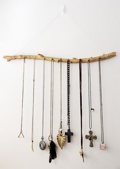DIY jewelry branch display