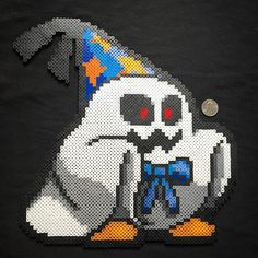 Ghost Halloween perler beads by  sweetandtwixkreations