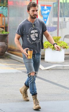 Shia Labeouf and his hobo-ish style.
