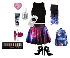 """Out of this World :)"" by queenmaggles ❤ liked on Polyvore featuring River Island, Casetify, Essie, Forever 21, women's clothing, women's fashion, women, female, woman and misses"
