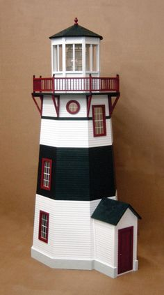 Real Good Toys Historical New England Lighthouse Dollhouse Cyber Monday Black Friday Walmart Garden Lighthouse, Lighthouse Decor, New England Lighthouses, Real Good Toys, Dollhouse Kits, Candelabra Bulbs, Wall Outlets, Interior Trim, Room Paint