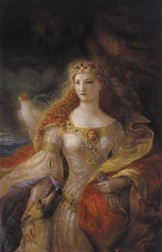 Eleanor of Aquitaine -- Queen of France and Queen of England and mother & grandmother of Kings and Queens, Eleanor of Aquitaine was one of the most powerful women in the world in the medieval era. She was first married to Louis VII of France, and then later had an annulment, and married Henry II of England (who would soon become King of England), just eight weeks after her annulment.