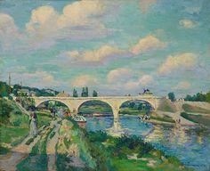Armand Guillaumin - Pont sur l'Oise à Compiègne 1877