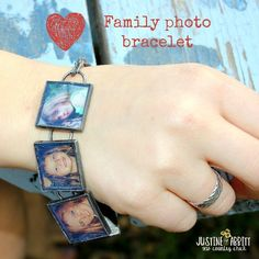 Use Mod Podge Dimensional Magic to make a fun bracelet featuring images of your family! This is so easy even a kid can make it!