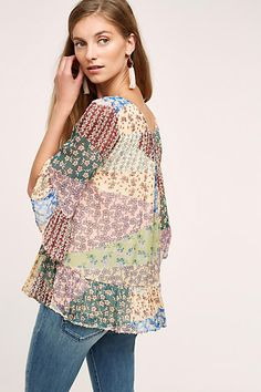 Patchwork Peasant Top by Fioreat | Anthropologie