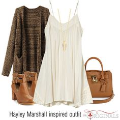 Hayley Marshall inspired outfit/TO by tvdsarahmichele on Polyvore featuring Billabong, Seychelles, Michael Kors and Elizabeth and James