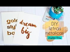 Gold Style Book - Blog de moda y belleza Gold Style, Fashion Books, Diys, Card Making, Blog, Make It Yourself, Lettering, Crafty, Youtube
